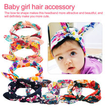 Lovely Bowknot Elastic Head Bands For Baby Girls Headband Children Tuban Accessories Floral Hair hairband