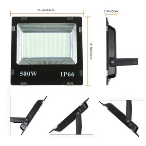 Image 2 - LIFELONG WARRANTY 500w led Floodlight ip65 Waterproof Outdoor led Flood Lights Daylight White AC170 245V led Spotlights