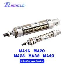 Ma ma25 ma32 ma40 maнержавеющая сталь Мини пневматический цилиндр