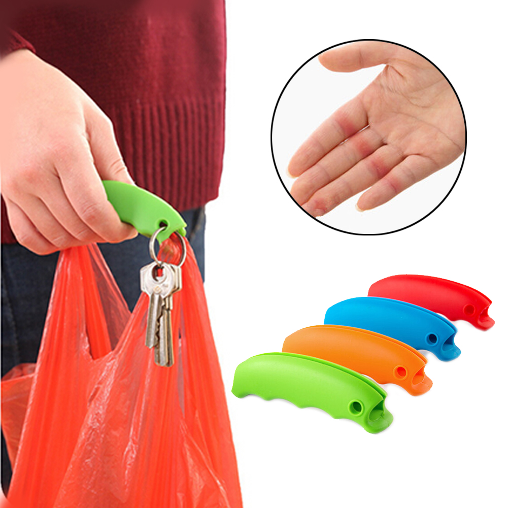 1Pc New Useful Silicone Bag Candy-colored Silicone Vegetable Picker Bag Extractor Does Not Let Go Shopping Effort Labor Bag