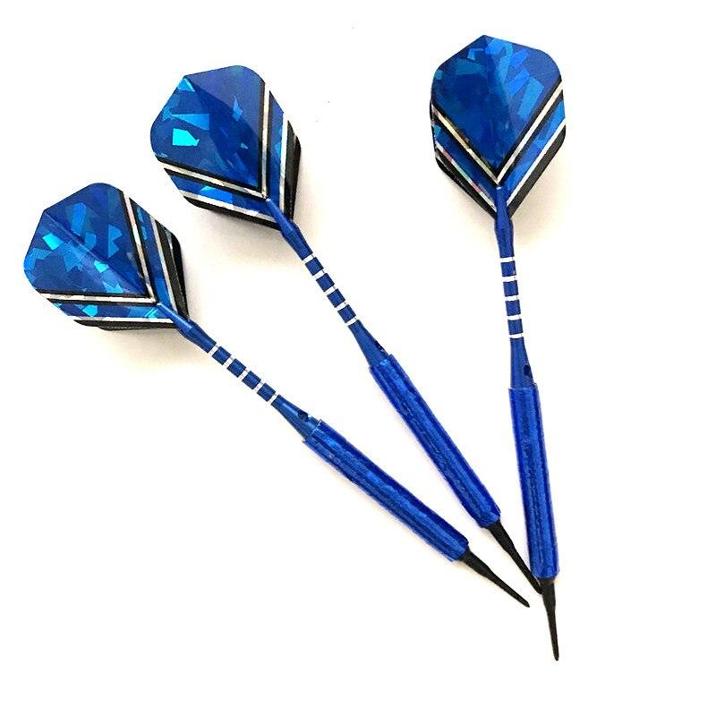 2020 New 3pcs Soft Tip Darts 14g Dart Pin Throwing Tip Soft Tip Dart Shaft Beautiful Blue