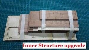 Image 4 - スケール1/48 uss bonhommeリチャードセクション船モデルキット + 高級内部構造装飾モデルキット + 木製の樽