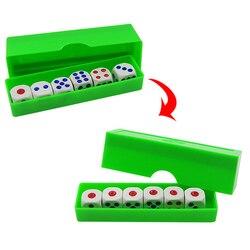 1 conjunto de previsão dicas truques mágicos seis morrer flash mudança magia close-up gimmick brinquedo para crianças nova chegada