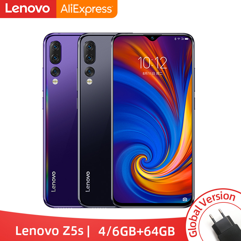 Global Version Lenovo Z5s Snapdragon 710 Octa Core 4GB 6GB 64GB Smartphone Face ID 6.3inch Android P Triple Rear Camera