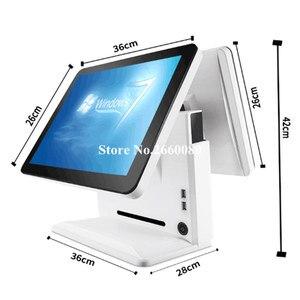 Image 3 - Tela lcd dupla de 15 polegadas, um painel de toque da máquina de registro de dinheiro para restaurantes e supermercados, tudo em um pos terminal do sistema