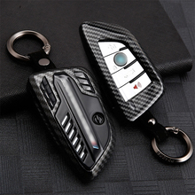 Sports Style Metal Car  Remote Key Fob Case Cover Holder For BMW 5 6 7 Series X1 X3 X4 X5 X6 X7  F15 F16 Keychain Car Styling