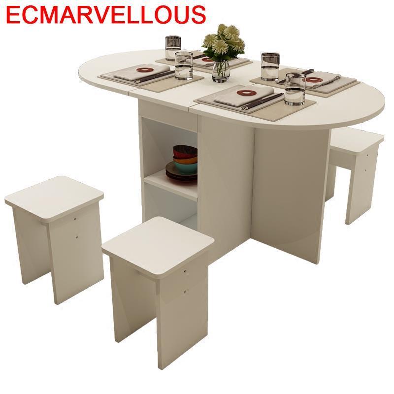 Dinning Kitchen Yemek Masasi Piknik Masa Sandalye Set Sala Shabby Chic Wood Folding De Jantar Bureau Mesa Comedor Dining Table