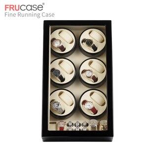 Image 3 - FRUCASE siyah yüksek kaplama otomatik saat zembereği kutu ekran toplayıcı saklama AC güç kumandalı ultra sessiz 12 + 4