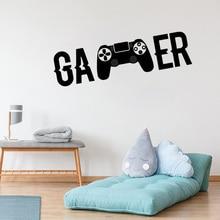 video game Controller wall decals Ps4 Gamer DIY wall decal Gamer wall sticker For Kids Bedroom Vinyl Wall Art mural недорого
