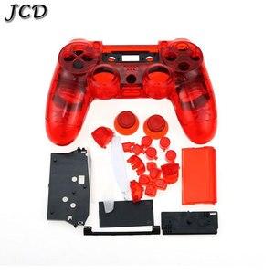 Image 5 - JCD для контроллера PS4 V1, полный корпус корпуса, чехол, накладка, набор кнопок для Sony Playstation 4 PS4 JDM 001 011, прозрачный
