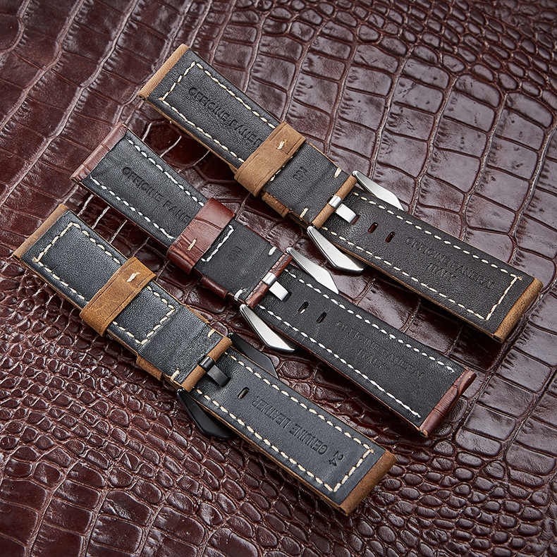26 Mm Kulit untuk Jam Tangan Tali untuk Garmin Fenix 3 3HR 5X 5X Plus Smart Watch Aksesoris Vintage Asli Kulit Kuda Gila gelang Band
