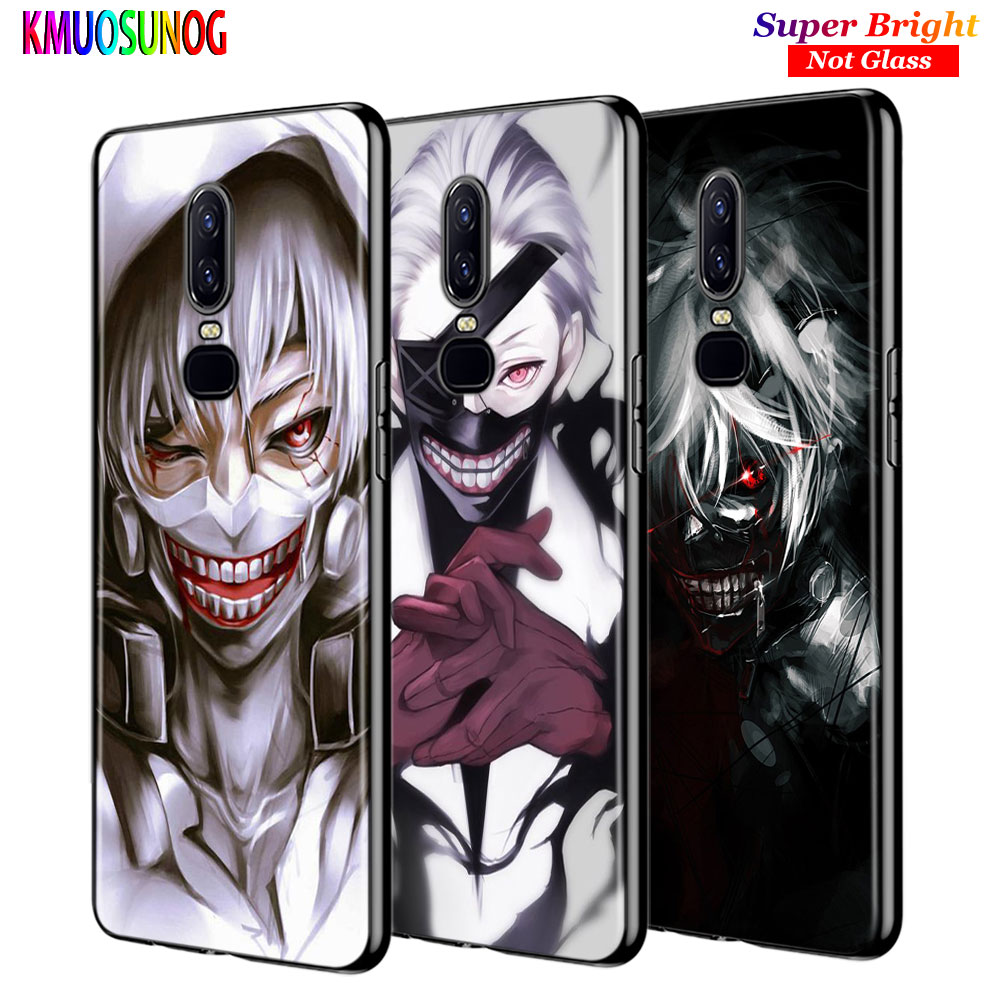 For <font><b>OnePlus</b></font> 7 7Pro Black <font><b>Silicone</b></font> Cover Tokyo ghoul Anime Back Cover For <font><b>OnePlus</b></font> 5 <font><b>5T</b></font> 6 6T Phone <font><b>Case</b></font> image