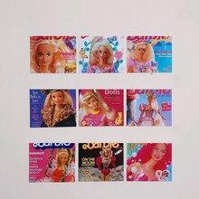 Carino Retro Baby Queen Card piccolo Poster cartolina bella ragazza decorazione Wall Sticker mano Account strumento decorazione adesivo regalo