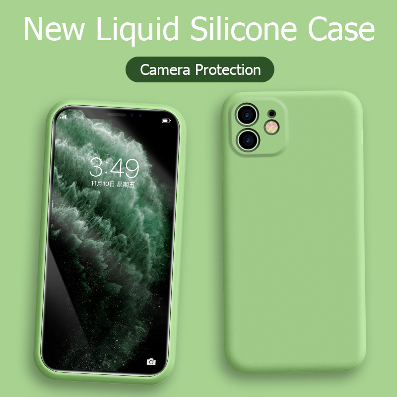 For-iPhone-11-Case-Liquid-Silicone-Matte-Soft-Cover-For-Appl