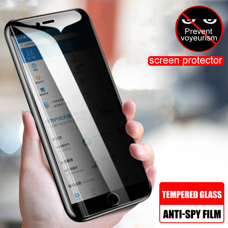 Anti Spy Tempered Glass On The For IPhone 6 6S 7 8 Plus X XS Privacy Screen Protector For IPhone XR XS Max 7 8 Protection Film