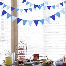 Bandeiras decorativas 4m 12, bandeiras azuis para festas materiais de decoração