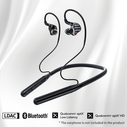 FiiO LC-BT2 Neckband MMCX/0.78mm Bluetooth 5.0 Earphone Cable,Sports earphone cable with aptX LL/LDAC/24H Playtime/Mic