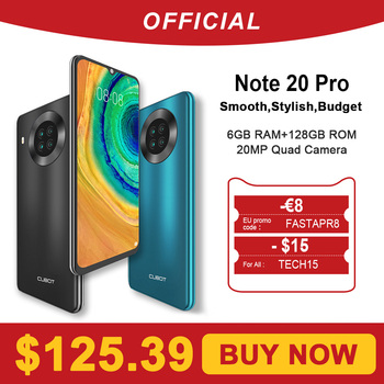 Cubot Note 20 Pro nota 20 pro quad câmera smartphone nfc 6gb/8gb RAM + 128gb ROM 6.5 mah 4200mah android 10 duplo sim telefone 4g lte celular Cubot note20 pro 1