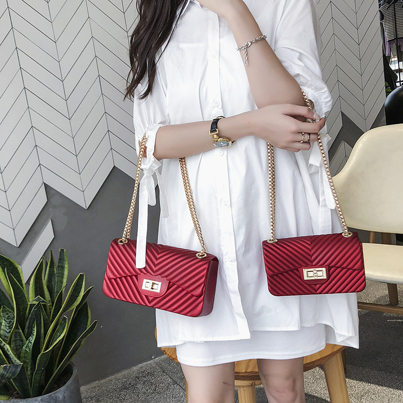 Designer Handbags Chain-Bag Messenger-Bag Luxury Pu Female Quality Hot
