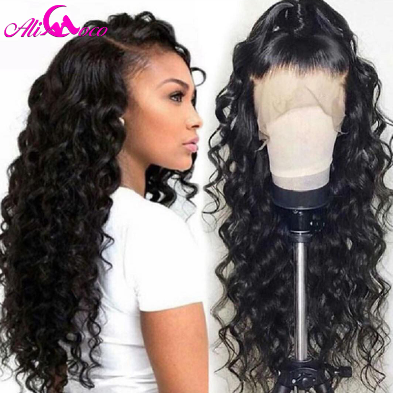 Brazilian Deep Curly Human Hair Wig 13x4 Lace Front Human Hair Wig 150% Density For Black Women Pre Plucked Remy Hair Lace Wigs