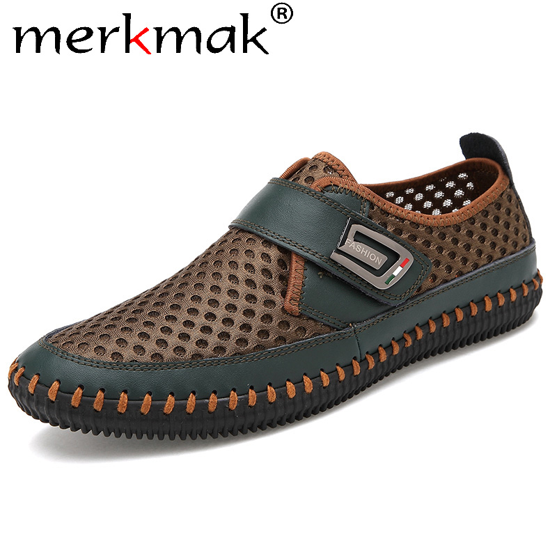 Merkmak Men Shoes Loafer Moccasins Driver Real-Leather Casual Summer Chaussure Homme title=