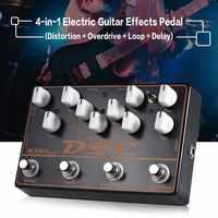 MOSKY diagnostyczny kod błędu (DTC) 4-in-1 Looper elektryczny pedał efektów gitarowych dobrej jakości symulator pedał efektów gitarowych części do gitary