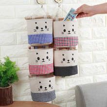 Toys Container Sundry-Organizer Cosmetic Hanging Storage-Bag Makeup-Holder Pocket Cotton