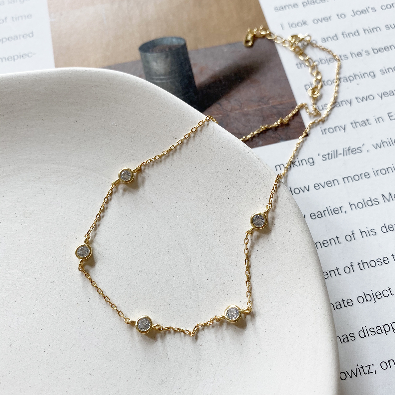 Crystal Star Necklace Choker for Women Genuine 925 Sterling Silver Charm High Quality Necklaces Pendants Gold Color Girl Jewelry