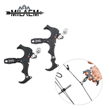 Compound Bow 3 &4 Finger Release Thumb Caliper Aluminum Alloy Adjustable bow Archery Aid Grip