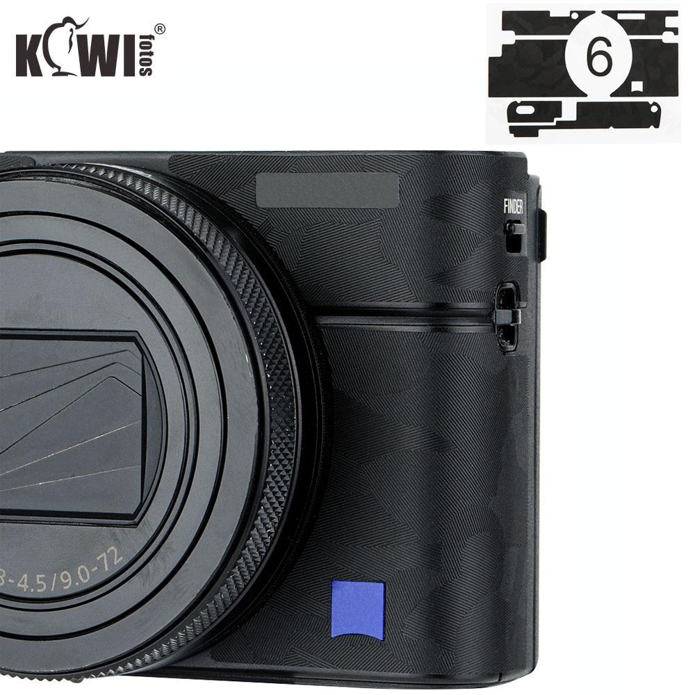 Anti-Scratch Camera Body Cover Skin Film For Sony RX100 VI RX100VI RX100M6 RX100 Mark VI Digital Camera 3M Sticker Shadow Black
