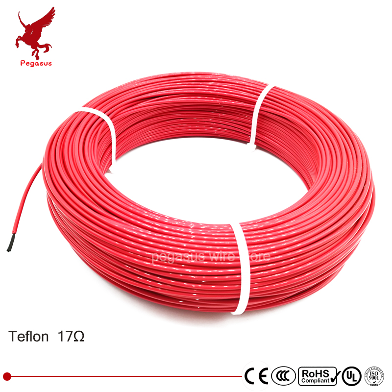 100meters 17ohm 24K low cost high quality Teflon PTFE carbon fiber heating wire Heating cable Infrared