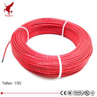 100 メートル 17ohm 24 18K 低コスト高品質テフロン ptfe 炭素繊維電熱線加熱ケーブル赤外線床暖房システム