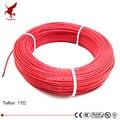 100 metros 17ohm 24K bajo costo alta calidad Teflon PTFE fibra de carbono cable de calefacción infrarrojo suelo Calefacción sistema de