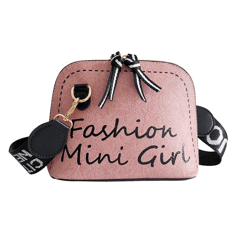 Women Crossbody Bag PU Leather Shell Wide Shoulder Strap Messenger Bags For Girls Sac A Dos Bolsas Feminina Mujer Sac A Main