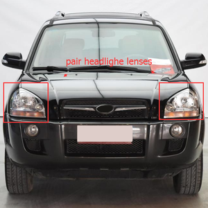 Image 5 - MAYITR 1 Pair Car Headlight Headlamp Clear Lens Shell Cover Left & Right For HYUNDAI TUCSON 2005 2006 2007 2008 2009