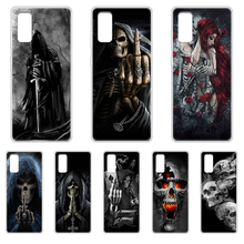 Skeleton Skull Fashion Soft Phone Case cover hull For SamSung Galaxy S 6 7 8 9 10 20 Plus Edge E 5G Lite Ultra transparent prime(China)