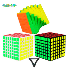 QiYi Classroom MF7 7x7x7 Cube Magic 7Layer Professional Speed  Black Puzzle Toys For Children Kids gift toys