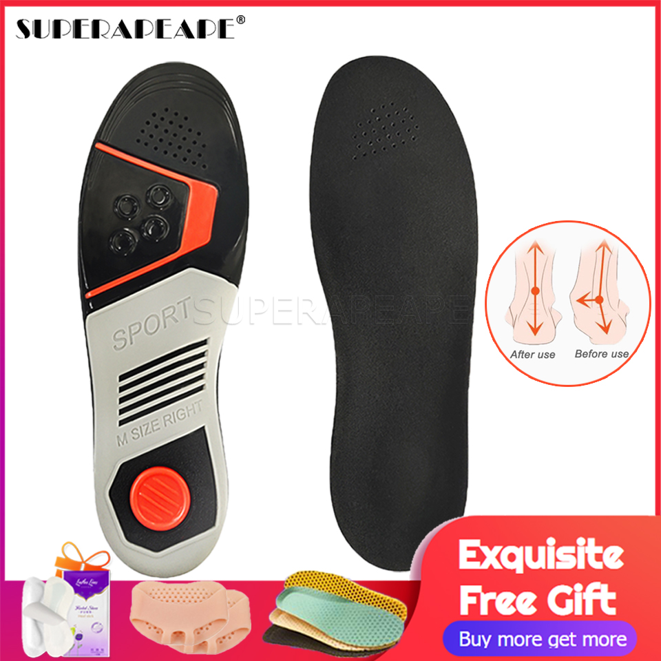 Running Sport Insoles Orthopedic Insoles Shock Absorbant Pads Sole Pad for Shoes insert Foot Care for Plantar Fasciitis image