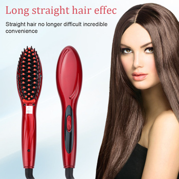 Electric Straight Hair Comb Hair Brush Styling Straightener Comb Irons Auto Straight Hair Comb Brush Hair Care Tool for Women new ionic hair straightener brush hair electric brush comb irons straight hair comb brush hair straightener curler styling tool