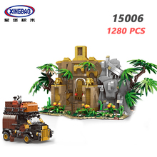 XINGBAO 15006 Forest Adventure Series 1280PCS Ancient City Model Sets Building Blocks Camp Tree My World Village Bricks Jugetes цена в Москве и Питере