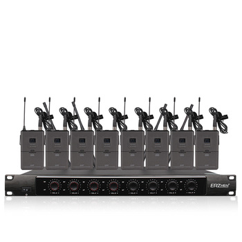 Professional wireless microphone system eight-channel wireless lapel microphone dedicated performance church school teaching