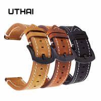 UTHAI P18 Uhrenarmbänder 18mm 20mm 22mm High-end-retro Kalb Leder Uhr band Uhr Strap mit echtes Leder Straps