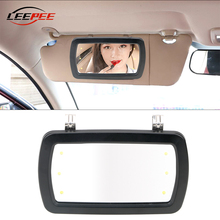 Make-Up-Mirror Sun-Visor Car-Interior Ce 6-Leds Sunshade Universal LEEPEE