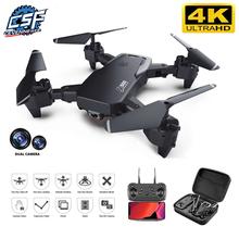 2020 nowy Drone 4k zawód HD szerokokątny aparat 1080P WiFi dron fpv podwójny aparat wysokość utrzymać drony aparat zabawki-helikoptery cheap CN (pochodzenie) Z tworzywa sztucznego 100m 26*27*6cm Mode2 15day Silnik szczotki 3 7v 4 kanały Oryginalne pudełko 120 min