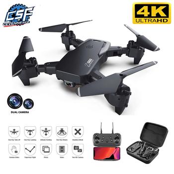 2020 nowy Drone 4k zawód HD szerokokątny aparat 1080P WiFi dron fpv podwójny aparat wysokość utrzymać drony aparat zabawki-helikoptery tanie i dobre opinie CEVENNESFE CN (pochodzenie) Z tworzywa sztucznego 100m 26*27*6cm Mode2 15day Silnik szczotki 3 7v 4 kanały Oryginalne pudełko
