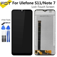 6.1 ''Black Voor Ulefone Note 7/S11 Lcd-scherm en Touch Screen Digitizer + Gereedschap En Lijm Voor Ulefone opmerking 7 Accessoires