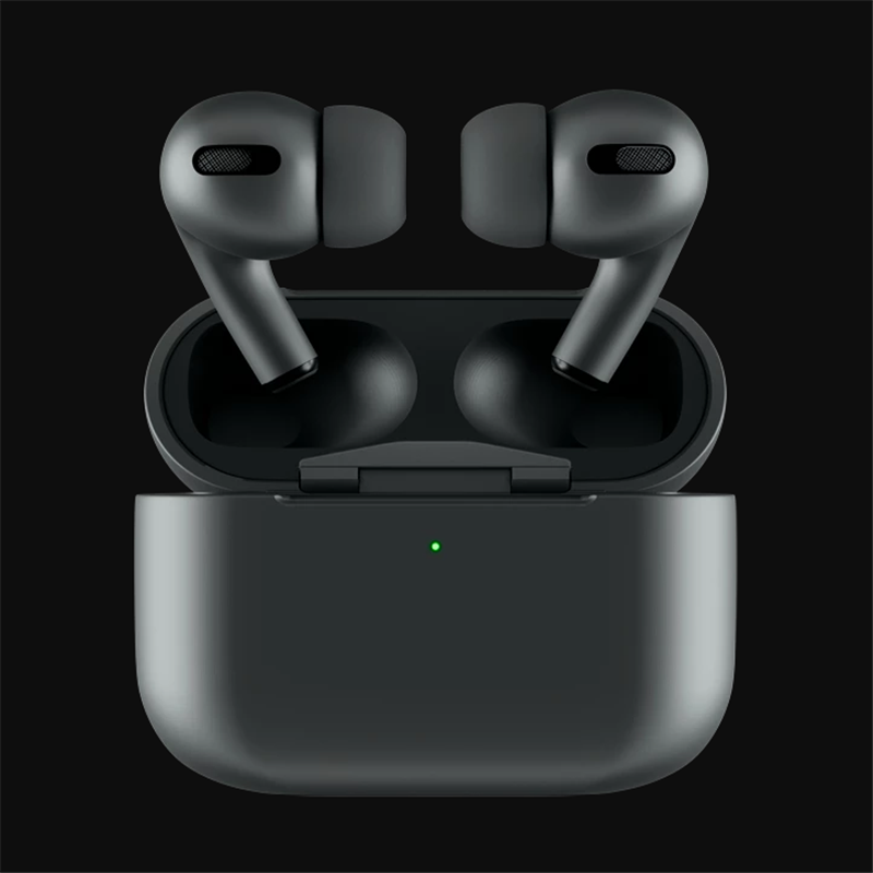 Blackpods Pro Bluetooth 8D Black Pods Pro Bluetooth Earphone Force Touch Pressure Sensor Earbuds Wirless Charging