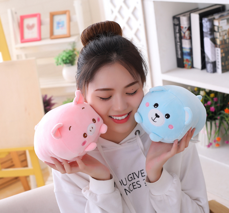 Small Panda Plush Hamster Elephant Sweet Dinosaur Pig Cat Bear Stuffed Toys Soft Deer Stuffed Animals Doll Baby Pillow Gifts