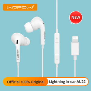 [New] WOPOW AU22 Wired Earphone with Mic Silicone In-Ear Stereo Sound Earphones for iPhone 12 Mini Max X 11Pro Bluetooth Headset