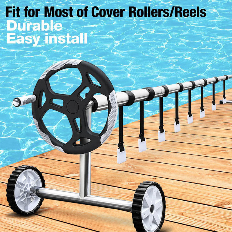 Pool Cover Roller Attachment Solar Blanket Straps Kit Universal Pool Strapping Kit For Swimming Pool Solar Cover Reel Accessory